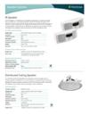 Speaker Product sheet-1